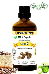 Organic The Best - Organic Castor Oil 100% Cold Pressed Undiluted,Certified, Premium Quality 100 ml