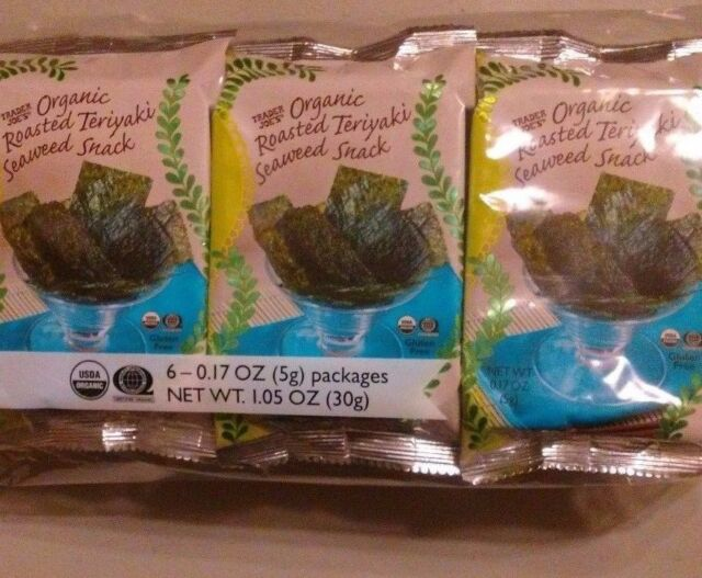 Trader Joe's - Trader Joe's Organic Roasted Teriyaki Seaweed Snack- 6 Pack