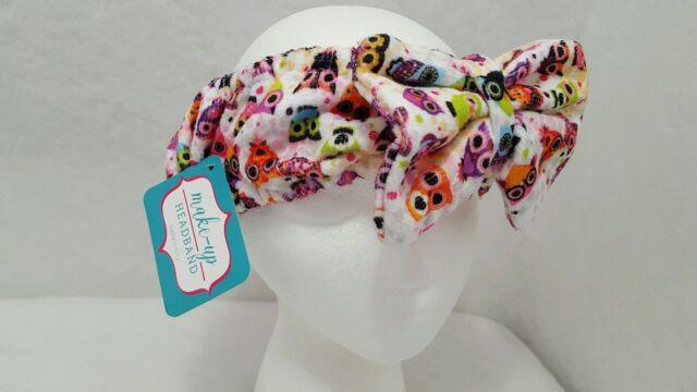 null - Bellabeauty Owl Print Cosmetic Makeup Spa Soft Plush Headband