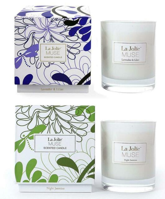 null - LA JOLIE MUSE Lavender Lilac&Jasmine Scented Candles Soy Wax 2 Pack 8.1 oz Each