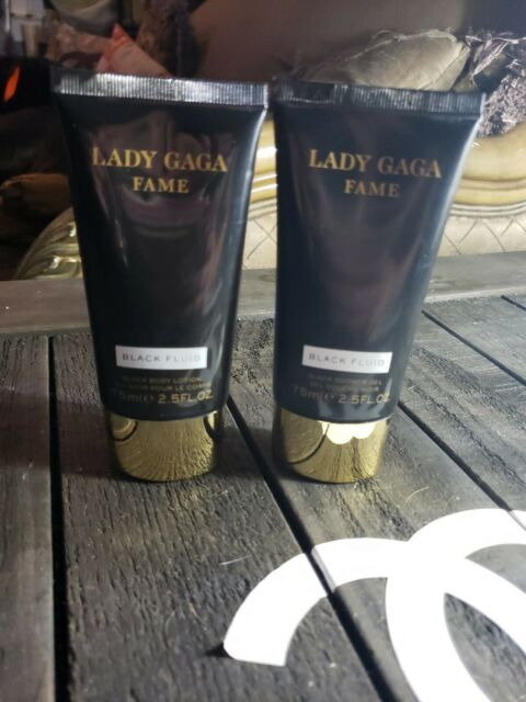 "null - LOT 2 Lady Gaga FAME ""BLACK FLUID"" SHOWER GEL & Lotion 2.5 oz 90% full"