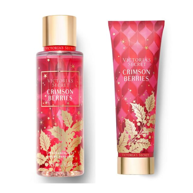 null - Victoria's Secret CRIMSON BERRIES Fragrance Body Mist and Body Lotion Set