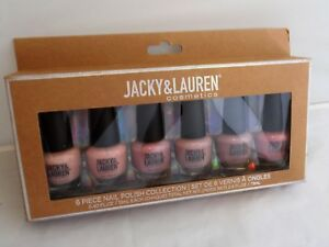Jacky & Lauren Cosmetics - 6 Piece Matte Nail Polish Collection-Beige-Cocoa Creams