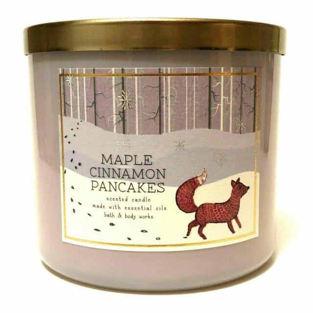 Bath & Body Works - Bath & Body Works Maple Cinnamon Pancakes Large 3-Wick 14.5 oz Candle