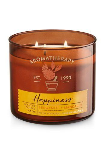 Aromatherapy - Bergamot & Mandarin Happiness 3-Wick Candle
