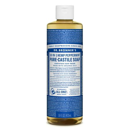 Dr. Bronner's - Dr. Bronner's Peppermint Pure-Castile Liquid Soap - 16 oz