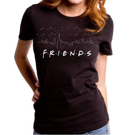 null - Friends cityscape black tee