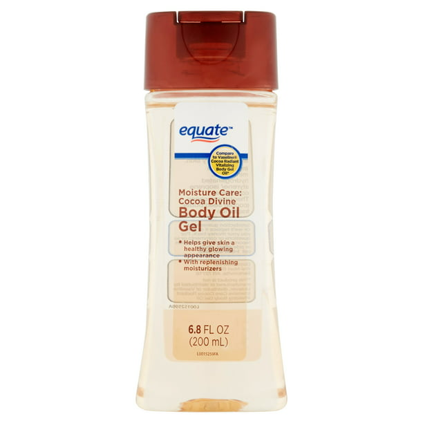 Equate - Equate Moisture Care Cocoa Divine Body Oil Gel, 6.8 fl oz