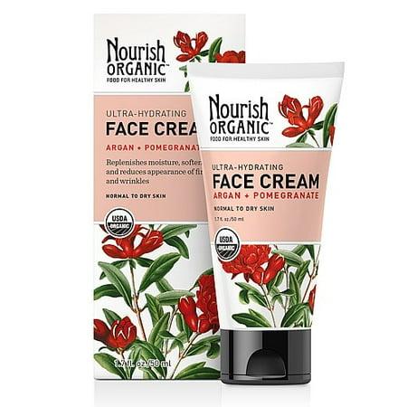 Nourish Organic - Nourish Organic Ultra-Hydrating Face Cream - Argan + Pomegranate 1.7 oz.