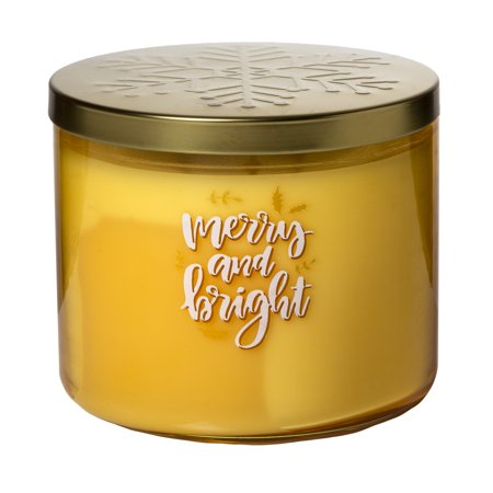 Mainstays - Mainstays Scented Jar Candle ? Merry & Bright, 14 oz. ? Single