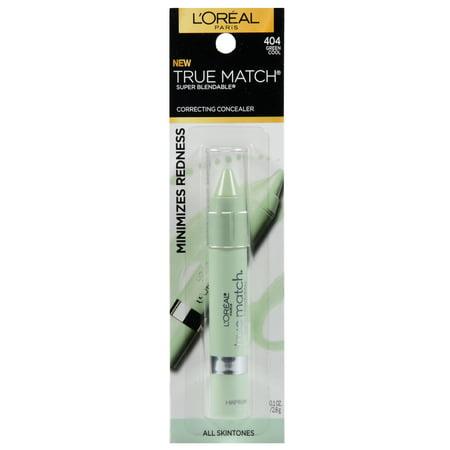 L'Oreal Paris - L'Oreal Paris True Match Correcting Crayon Concealer, Green, 0.1 fl. oz.