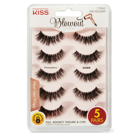 Kiss - KISS Blowout False Eyelashes, Pompadour Multipack (5 Pairs)