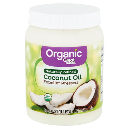Great Value - Great Value Organic Naturally Refined Coconut Oil, 56 fl oz