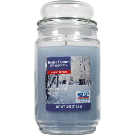 Better Homes & Gardens - A Wonderful Winter Jar Candle with Bubble Lid