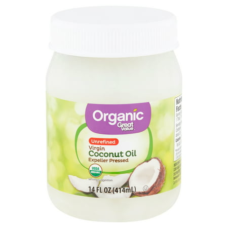 Great Value - Great Value Organic Unrefined Virgin Coconut Oil, 14 fl oz