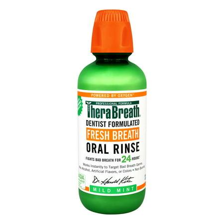 TheraBreath - TheraBreath 24-Hour Fresh Breath Oral Rinse, Mild Mint, 16.0 fl oz