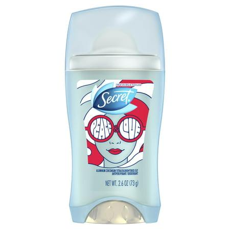 null - Secret Invisible Solid Antiperspirant & Deodorant, Peace & Love, 2.6 oz