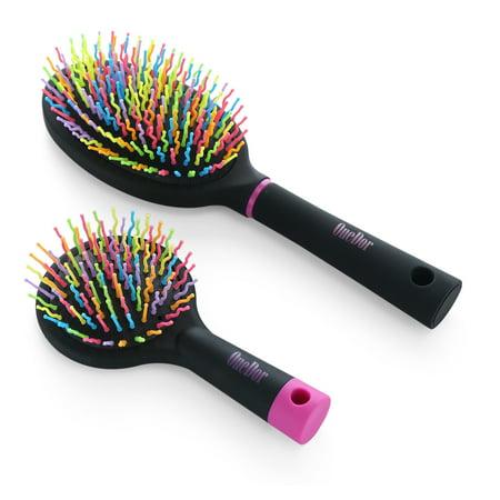 OneDor - Rainbow S-Curve Ball Tipped Bristles Air Volume Hair Brush
