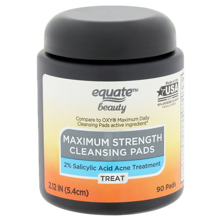 Equate Beauty - Equate Beauty Maximum Strength Cleansing Pads, 90 Count