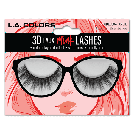 L.A. Colors - Lac Faux Mink Lashes, Andie