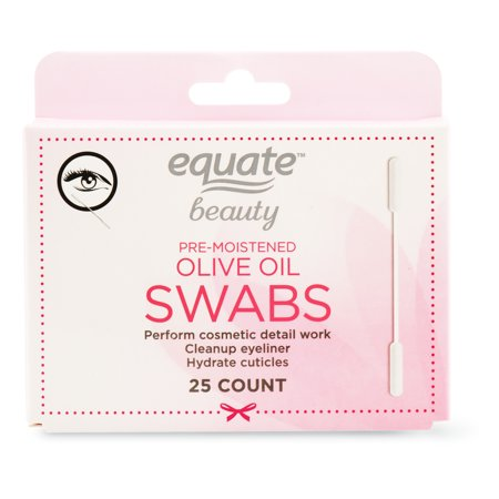 Equate - Equate Beauty Pre-Moistened Olive Oil Swabs 25 Ct