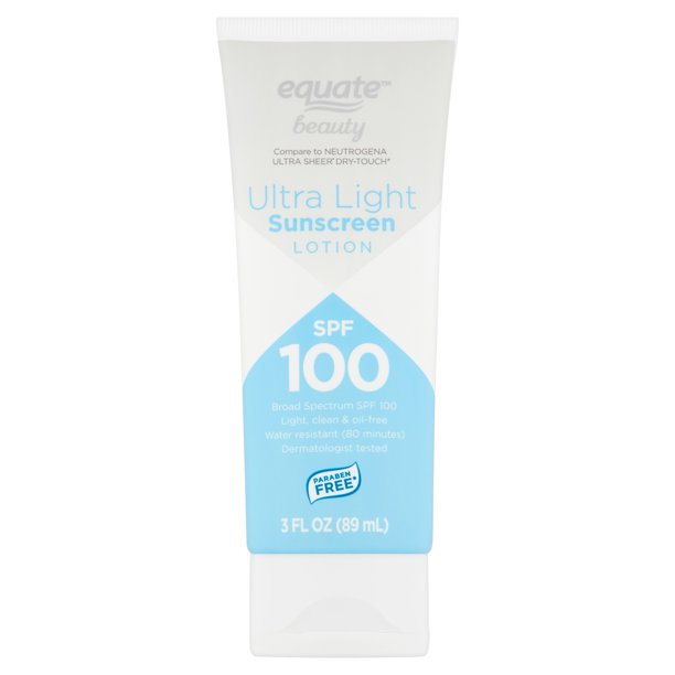 Equate Beauty - Ultra Light Broad Spectrum Sunscreen Lotion, SPF 100