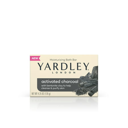 Yardley - Yardley London Naturally Moisturizing Bath Bar, Activated Charcoal, 4.25 Oz Bar