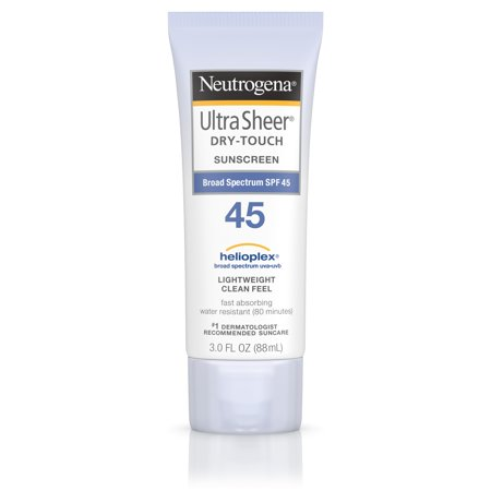 Neutrogena - Neutrogena Ultra Sheer Dry-Touch Water Resistant Sunscreen SPF 45, 3 fl. oz