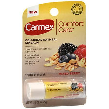 Carmex - Carmex Comfort Care Colloidal Oatmeal Lip Balm Mixed Berry .15 oz tubes - 12 ct