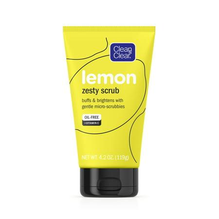 Clean & Clear Clean & Clear Lemon Zesty Oil-Free Face Scrub with Vitamin C, 4.2 oz