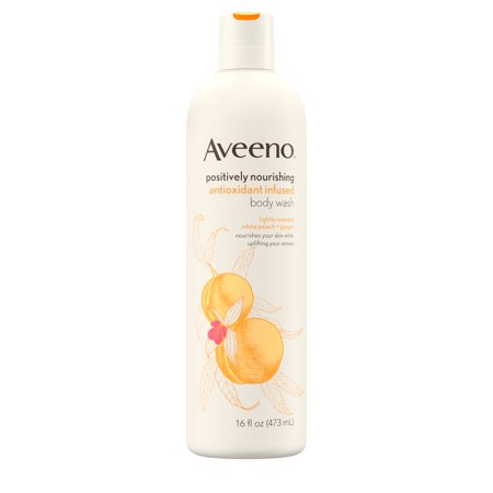Aveeno - Aveeno Positively Nourishing White Peach & Ginger Body Wash, 16 fl. oz