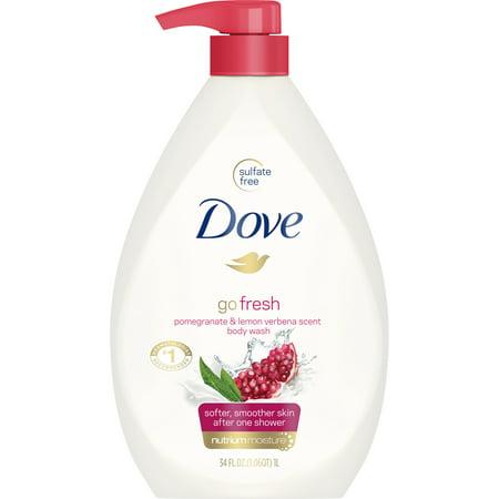 Dove - Dove go fresh Body Wash Pump Pomegranate and Lemon Verbena 34 oz