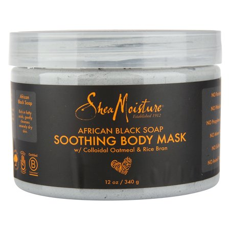 SheaMoisture - SheaMoisture African Black Soap Soothing Body Mask, 12 Oz.
