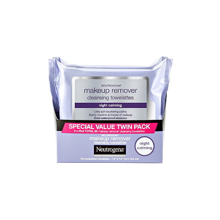 Neutrogena - Neutrogena Makeup Remover Night Calming Cleansing Towelettes, 25 ct 2 Pk