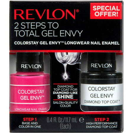 Revlon - Revlon ColorStay Gel Envy Longwear Nail Enamel, Royal Flush + Top Coat .4 fl oz, 2 count