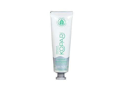 Kopari - Kopari Coconut Toothpaste- Mint Flavored Organic Coconut Oil Natural Whitening Toothpaste, Vegan, Fluoride Free, Sulfate Free, Gluten Free, Mint Tooth Paste