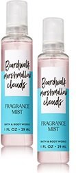 Bath & Body Works - Bath and Body Works 2 Pack Travel Size Fine Fragrance Mist Boardwalk Marshmallow Clouds 1 Fl Oz