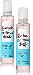 Bath & Body Works - Bath and Body Works 2 Pack Travel Size Fine Fragrance Mist Boardwalk Marshmallow Clouds 1 Fl Oz