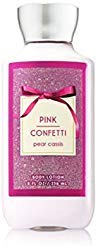 Bath & Body Works - Bath and Body Works Pink Confetti Lotion Signature Collection Rounded Bottle 8 Ounce