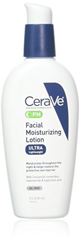 curveland CeraVe Facial Moisturizing Lotion PM Ultra Lightweight 3 oz (Packs of 3)