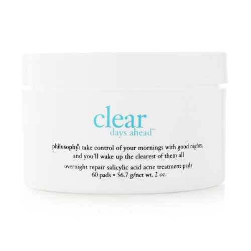 Philosophy - Philosophy Clear Days Ahead Overnight Repair Salicylic Acid Acne Treatment Pads, 60 Count