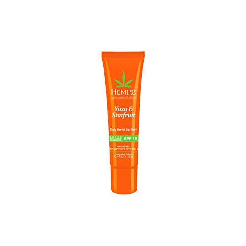 Hempz - Yuzu & Starfruit Daily Herbal Lip Balm with SPF 15