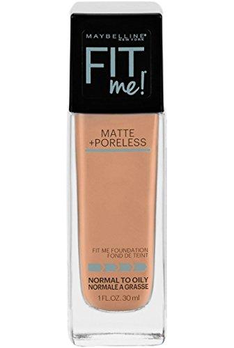Maybelline New York Maybelline Makeup Fit Me Matte + Poreless Liquid Foundation Makeup, Pure Beige Shade, 1 fl oz