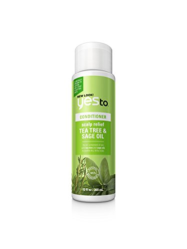 Yes To - Yes To Naturals Tea Tree & Sage Oil Scalp Relief Conditioner, White, 12 Fluid Ounce