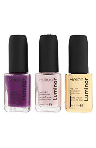 Helios - Helios Luminor Professional Nail Polish Set (Purple/Mayve)
