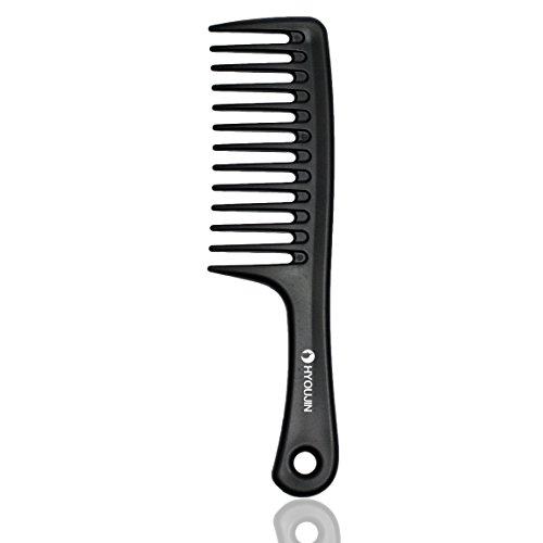 HYOUJIN - Black Wide Tooth Comb Detangling Hair Brush