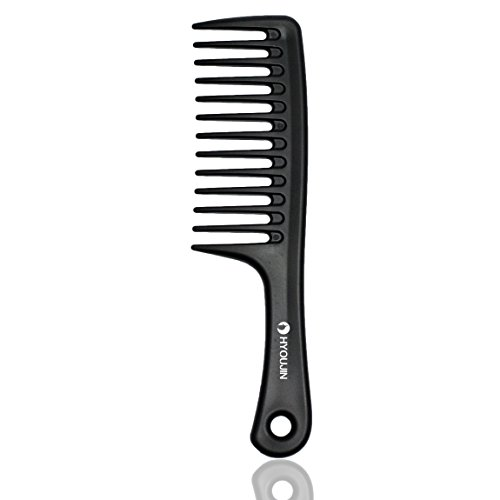 HYOUJIN - Black Wide Tooth Comb Detangling Hair Brush