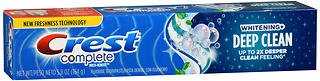 Crest - Crest Complete Fluoride Toothpaste Whitening + Deep Clean Effervescent Mint - 5.8 oz, Pack of 5