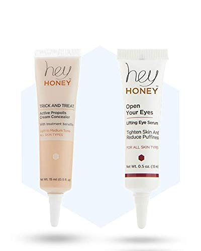 Hey Honey - EYE BRIGHTENING & SMOOTHING SET - OPEN YOUR EYES DUET - Trick and Treat & Open Your Eyes (Light to Medium)