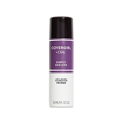 COVERGIRL - COVERGIRL + Olay Simply Ageless Makeup Oil Free Serum Primer for an Age-Defying, Never Pore Clogging Start to Your Makeup Routine, 1 ounce. (packaging may vary)